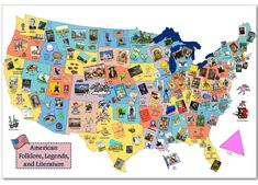 as part of a unit (or even a multi-year project), map out where literature we read comes from