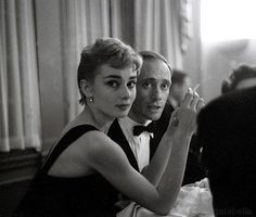 "gatabella: ""Audrey Hepburn and Mel Ferrer """