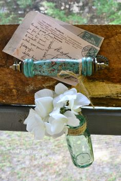 Sweet Inspirations by JP designs: I Made a Rustic Weathered Wood Wall Rack with Verdigris Accents