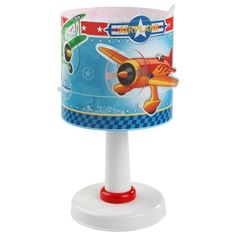 Estilo infantil. Lámpara de mesilla Airplane - aviones. Comprar online en lamparas.es