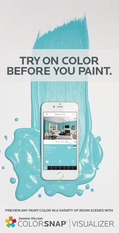 Get a splash of colorful inspiration directly from Pinterest. ColorSnap® Visualizer for iPhone or Android lets you select any hue from any Pin and turn it into your next wall color—all in a snap. Download the app today.