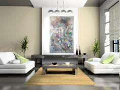 Abstrakt Kunst Wohnzimmer Sofas Couchtisch