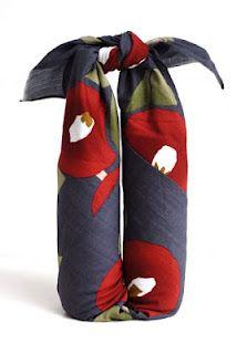 Furoshiki wine bottles wrapping