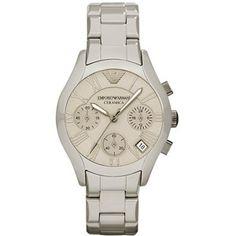 Buy Emporio Armani Grey Ceramica Chronograph Watch AR1460 Online armaniemporiowatches.co.uk