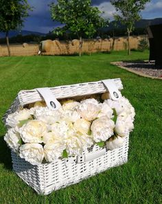 White wicker basket filled with bunches of peonies for your wedding day.  We have lots of props for you to hire for your wedding day, from wicker baskets, table lanterns, wedding swings, milk churns with flowers, centrepieces, lanterns and popcorn bars. See lots more details at www.limelightweddings.co.uk Manzanita Tree Centerpieces, Centrepieces, Wedding Hire, Wedding Day, Bedroom Inspiration, Wedding Inspiration, Table Lanterns, Led Tree, Popcorn Bar