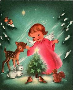 Vintage Christmas Card  so cute!!