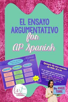 How to Write a Persuasive Essay for AP Spanish PowerPoint and Activities Ap Spanish, Spanish Lessons, Teaching Spanish, Writing A Persuasive Essay, Argumentative Essay, Vocabulary List, French Teacher, Spanish Language, Lesson Plans