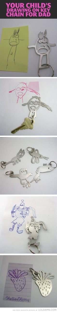cool-child-drawing-keychain-for-dad