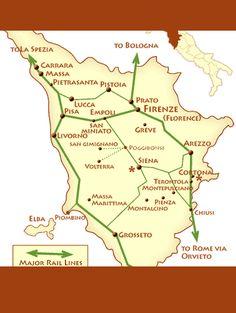 tuscany rail map