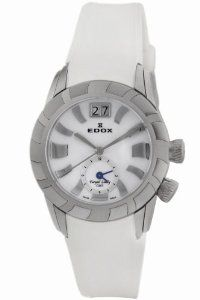 Edox Women's 62005 3 NAIN Royal Lady Mother of pearl Dial Date GMT Watch
