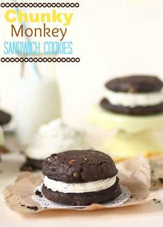 chunky monkey sandwich cookies