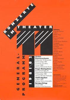 Rosemarie Tissi Poster: Konzerte Im Theater 11 Graphic Design Layouts, Graphic Design Typography, Layout Design, Print Design, Ui Design, Max Bill, International Typographic Style, Alphabet City, Theater