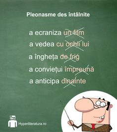 Câteva pleonasme de care ar trebui să te ferești. Romanian Language, Kids Education, Good To Know, Grammar, Montessori, Parenting, Classroom, Study, Watercolor