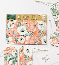 Floral Gift Tags, Set of 12 by Yellow Owl Workshop on Scoutmob