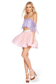 Lilac Flouncing Off Crop - LIMITED – Black Milk Clothing