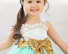 Flower girl dress-birthday dress-aqua flower girl by GlitterMeBaby