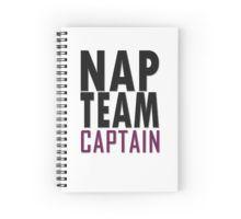 Nap team captain Spiral Notebook