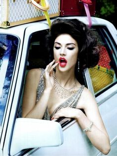 Extravagant, Sophisticated Lady (Vogue Italia) We love the image and love her hair! Fabulous Www.ukhaidressers.com