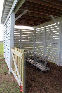 Life in a Little Red Farmhouse: Horse Run-in & Sheep Shelter/ catch pen for those tricky critters