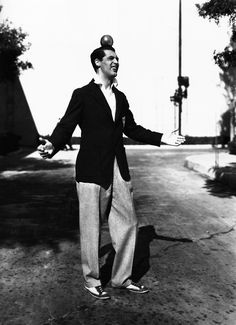 Cary left home at 14 and joined a troupe as a vaudeville acrobat - skills he used throughout his film career