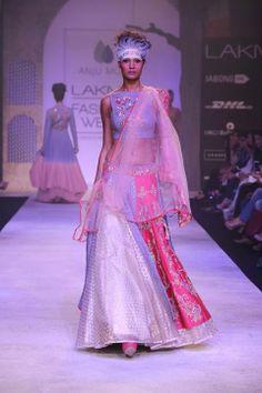 Anju Modi lengha. LFW 2014