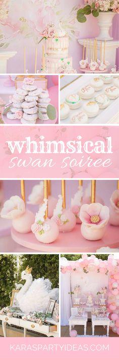 Whimsical Swan Soiree via Kara's Party Ideas - KarasPartyIdeas.com