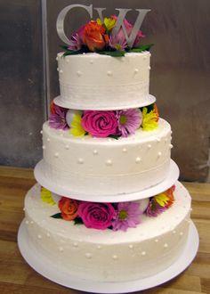 pillar wedding cakes | Spring Time Bubble Pillar Wedding Cake