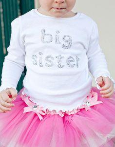 Big Sister Shirt by ChristinaKayeDesigns on Etsy, $18.00