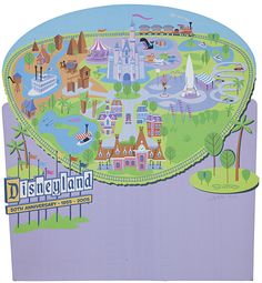 D23 Expo 2013 - The Ultimate Disney Fan Event - Shag Map of Disneyland - Love it!