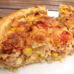 Sweet Corn, Bacon, and Tomato Tart