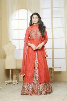e3c6dda919 Orange Banarasi Silk Designer Salwar Suit #boutiques #mall #style  #shoppingaddict #promo