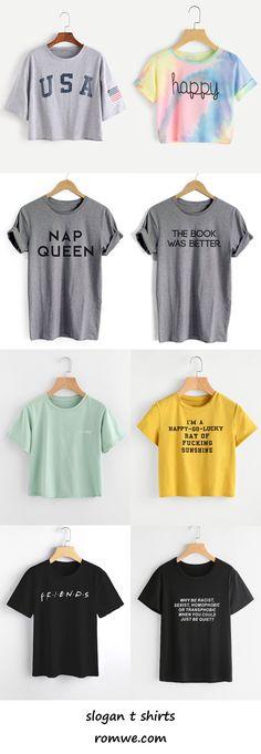 slogan t shirts 2017 - romwe.com