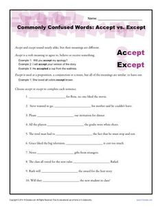 affect and effect commonly confused words worksheets education pinterest worksheets. Black Bedroom Furniture Sets. Home Design Ideas