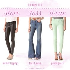 how to edit your closet for spring!