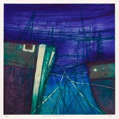 Winter Harbour by Barbara Rae RA - Between the Land and the Sea - Browse Art | Royal Academy of Arts | Art Sales