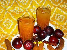 Cuisine of Karachi: Imli Aur Aloo Bukharay Ka Sharbat املی اور آلو بخارے کا شربت Cold Drinks, Beverages, Plum Sauce, Recipe Link, Smoothies, Cocktails, Baking, Desserts, Drink Recipes