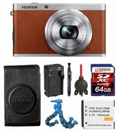 FujiFilm Fuji XF-1 Brown + FujiFilm Soft case SC-XF (Black) + Battery + Travel Charger + 64GB SDXC (10) Deluxe Bundle by Fujifilm. $539.00. The Willoughby's Kit Includes: 1. Fujifilm XF1/Brown 12MP Digital Camera with 3-Inch LCD (Brown) 2. FujiFilm Soft case SC-XF (Black) 3. Spare Battery NP-50A 4. Travel Charger  5. LexSpeed 64GB SDXC Class 10 Memeory Card 6. Lens Pen Cleaning System 7. Giotto's Air Blower 8. Flexpod Flexible Tripod 9. LCD Screen Protectors 10. Memory Card ...