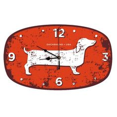 I pinned this Dachshund USA Wall Clock from the Naked Decor event at Joss and Main!