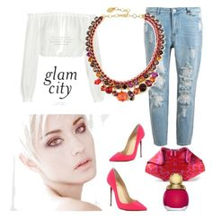 """glam city"" by kaliparis on Polyvore featuring mode, Alexander McQueen, Christian Louboutin, Christian Dior, Elizabeth and James, chic et mars2016"