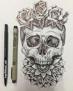 Calf with a swallow or humming bird instead of bud Future Tattoos, Love Tattoos, Beautiful Tattoos, Body Art Tattoos, Tattoos For Guys, Tatto Skull, Tatoo Art, Skull Art, Bird Skull