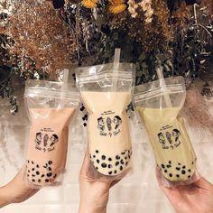 # - Food and Drink Fun Drinks, Yummy Drinks, Yummy Food, Banana Split, Boba Drink, Bubble Milk Tea, Food Goals, Cafe Food, Aesthetic Food