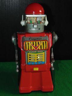 VINTAGE YONEZAWA CRAGSTAN TALKING ROBOT TINPLATE  MADE IN JAPAN !!!!!!