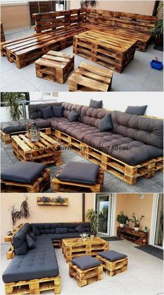 Pallet Garden Furniture, Diy Outdoor Furniture, Couch Furniture, Furniture Ideas, Modern Furniture, Rustic Furniture, Furniture Websites, Furniture Layout, Furniture Makeover