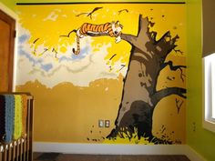 A beautiful Calvin And Hobbes mural