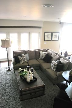 Small Living Room with Sectionals. Small Living Room with Sectionals. Sectional sofa In Small Living Room Chaise Sofa Living Room, Sectional Sofa Decor, Sofa Decor, Home And Living, Living Room Decor, Home, Small Living Rooms, Living Room Sectional, Family Room Design
