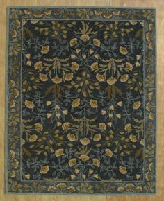 Brand New Adeline Blue 8x10 Persian Pottery Barn Style Wool Area Rug