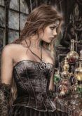 Paintings in the Gothic style by Victoria Frances, famous Spanish artist, depict young women suffering from love to obsession of vampires. Gothic Fantasy Art, Fantasy Women, Fantasy Artwork, Dark Fantasy, Gothic Artwork, Fantasy Paintings, Dark Gothic Art, Fantasy Witch, Gothic Glam