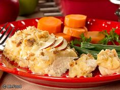 Swiss Fondue Chicken - A tasty way to incorporate the creaminess and cheesiness of fondue into your dinner! This 30-minute chicken dish is delicious!