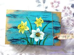 "Check out  ""Hand painted folk art box (Flower No.1 / 2)"" Decalz @Lockerz.com"