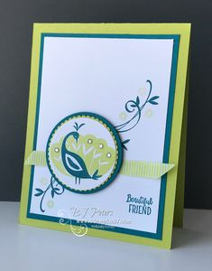 Check out the Stamparatus - a positioning tool from Stampin' Up! used on this Beautiful Peacock stamp set from Sale-a-Bration 2018!  #stampinBJ.com